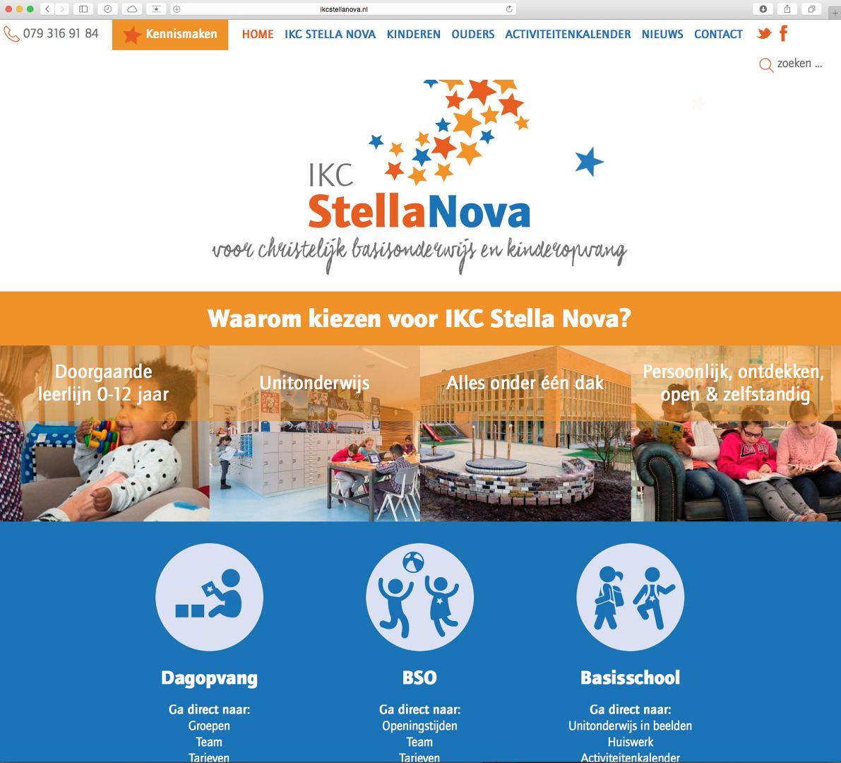 Webdesign IKC Stella Nova