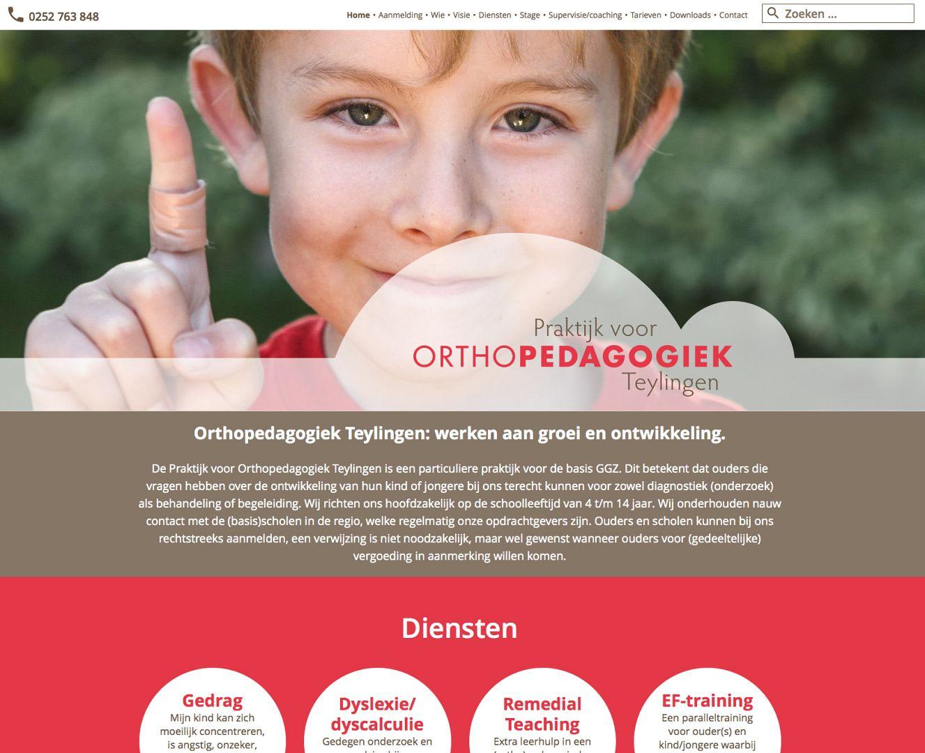 Webdesign Orthopedagogiek Teylingen