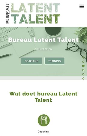 Latent Talent webdesign